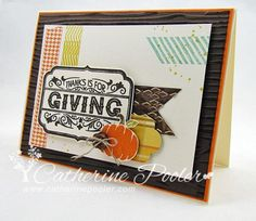 Hero Arts Thankful Stamp Set Fall Card Making