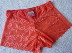 Shorty boxer dentelle orange femme lingerie taille XL neuf