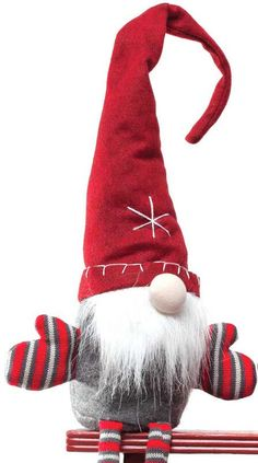 A gnome for your home ready to spread Christmas cheer. Available in red or grey…