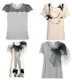 Hoy estaba buscando ideas para darle un nuevo aire a nuestra vieja camiseta gris o blanca y he encontrado dos ideas de Valentino ( las ...