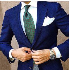 Blue suit top