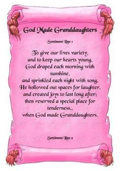 Grand-Daughter's Quotes | My precious granddaughters