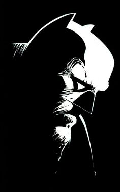 Batman by Frank Miller. This is cool just because if looks like Marv with a Batman mask on. I would LOVE to see a book with Marv as Batman, by the way. Batman Dark, Im Batman, Batman The Dark Knight, Batman Comics, Comic Book Artists, Comic Books Art, Comic Art, Mc Bess, Frank Miller Art