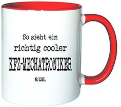 Mister Merchandise Kaffeetasse Becher So sieht ein richtig Cooler KFZ-Mechatroniker aus. , Farbe: Weiß-Rot - http://geschirrkaufen.online/mister-merchandise/weiss-rot-mister-merchandise-kaffetasse-becher-2
