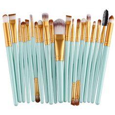 7.44$  Buy now - http://diktc.justgood.pw/go.php?t=182995506 - Practical 20 Pcs Plastic Handle Nylon Makeup Brushes Set 7.44$