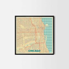 Chicago City Prints - Art posters and map prints of your favorite city. Unique design of a map. Perfect for your house and office or as a gift.