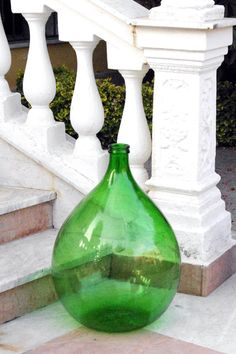Italian Demijohn - I just love green glass.