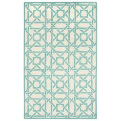 Capel Rugs Charisma Bamboo Ivory Mint Wool Rug #laylagrayce