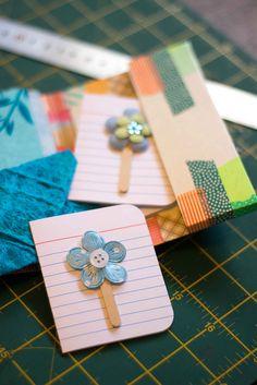 washi tape card/note/photo holder