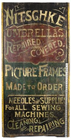 vintage signs- like the weathered look