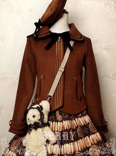 --> Pre-order: [-♬♫-The Violin Family-♬♫-] Lolita Embroidery Winter Coat and Beret --> Shop it here >>> http://www.my-lolita-dress.com/berry-wood-the-violin-family-lolita-winter-coat-bew-1