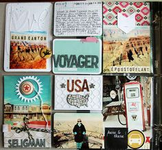 travel scrapbooking, project life ideas