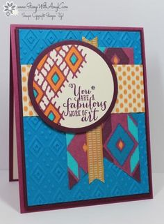 Bohemian Borders Work of Art by amyk3868 - Cards and Paper Crafts at Splitcoaststampers