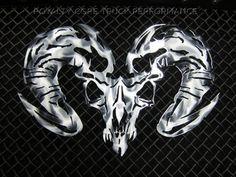 Ram Skull Airbrushed                                                                                                                                                                                 More
