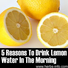 ❤ 5 Reasons To Drink Lemon Water In The Morning ❤