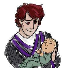 Garmadon with his baby #Ninjago