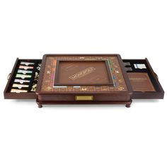 Monopoly Luxury Edition Board Game at Brookstone—Buy Now! Wooden Board Games, Wood Games, Monopoly Board, Monopoly Game, Hammacher Schlemmer, Deco Gamer, Board Game Store, Classic Board Games, Wooden Cabinets