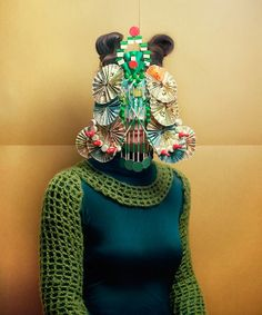 """masques"" series by marie rime"