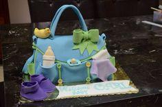 Baby diaper bag cake