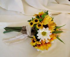 Sunflower Bouquets Wedding Flower Package 17 Pieces custom for KathyM. $343.00, via Etsy.