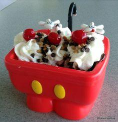 Mickey Kitchen Sink Sundae (AKA The Mickey Pants Sundae) in Walt Disney World! #MustEat #DisneyFood