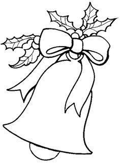 Dibujos para colorear de Campanas de navidad