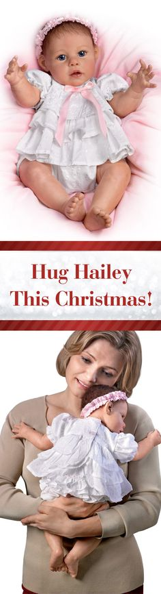 Snuggle up with the Hugs from Hailey Baby Doll for a bit of Christmas cheer!