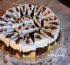 Rettentő kiadós és nagyon fincsi. Minél tovább áll, annál finomabb! Hozzávalók A tésztához: 20dkg margarin 20 dkg cukor 5 db tojás 30 dkg liszt fél[...] Hungarian Desserts, Hungarian Recipes, Sweet Cookies, Cake Cookies, Cupcakes, Cupcake Cakes, Croatian Recipes, Cake Bars, Sweet And Salty
