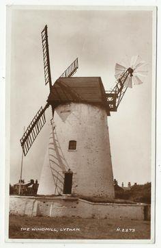 POSTCARD-ENGLAND-LANCASHIRE-LYTHAM-RP. The Windmill.   eBay