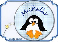 Button Pinguin mit Wunschtext von Jasuki auf DaWanda.com