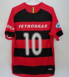Flamengo Soccer Jersey Nike Sphere Dry Brazil Petrobras No 10 Podium Lubrax  #NikeSphereDri #Brazil