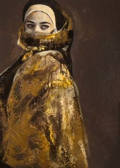 LITA CABELLUT Memories Wrapped on Gold Paper