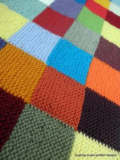 18 ideas for patchwork baby blanket diy squares Patchwork Blanket, Patchwork Baby, Crochet Blanket Patterns, Baby Knitting Patterns, Knitting Squares, Loom Patterns, Knitted Afghans, Knitted Baby Blankets, Easy Quilts