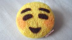 needle felting by myself | EMOJI