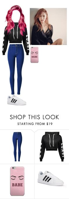 """dinner with jihera-Sammy"" by kpop-roleplaay ❤ liked on Polyvore featuring adidas"