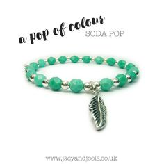 Afd a pop of colour to your favourite stack  #SodaPop Shop now >>http://ift.tt/1nyu66z << #faceted #sterlingsilver #feather #bracelet #pop #colour #jewellery #Cheshire #Altrincham #jacyandjools  #loveitforlife