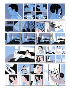 juncen:  Distance A one-page comic I did for ELLE MEN China. It explores the distance in a relationship. AD Mojo Wang  Jun Cen