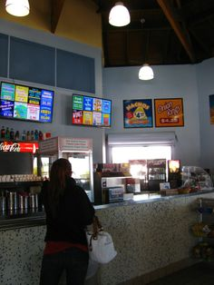Fish n' chips, hot dogs, and more at the concession stand at Pier 60.