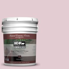 BEHR Premium Plus Ultra 5-gal. #100C-2 Cool Pink Eggshell Enamel Interior Paint