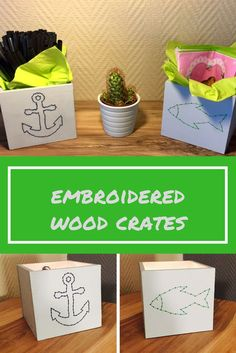 how to easily design a embroidered wood crate (scheduled via http://www.tailwindapp.com?utm_source=pinterest&utm_medium=twpin)