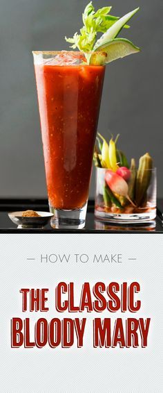 Classic Bloody Mary #cocktails #liquor used Zing Zang Instead of tomato juice, 1 tsp of horseradish (non prepared), little garlic salt