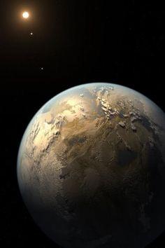 Vista la tierra desde el espacio