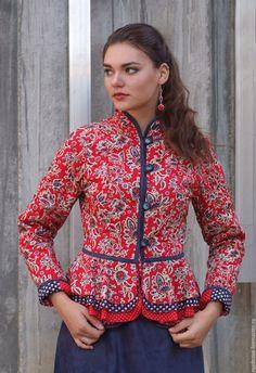 Blazer Jackets For Women, Cardigans For Women, Batik Fashion, Boho Fashion, Blouse Batik, Culture Clothing, Country Attire, Russian Fashion, Jacket Pattern