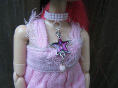 Pullip & Blythe Fashion Doll Star Choker Necklace by finasma