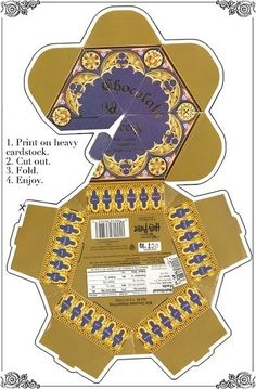 Harry Potter Party- Printable chocolate frog box via mugglenet.tumblr.com
