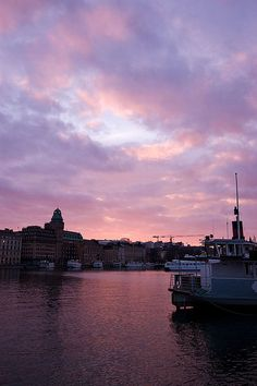 Sweden, Sunset in Stockolm
