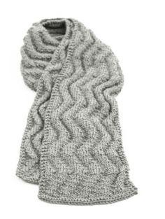 Free Knitting Pattern: Wave Rib Scarf