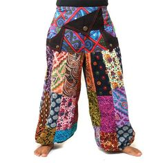 PATCHWORK  Awesome Cotton Hippie Pants  #Hippie #Hippy #Isoley #Handmade #Patchwork #Fairtrade #Unique