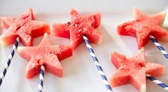 Watermelon Star Pops @Paula Deen