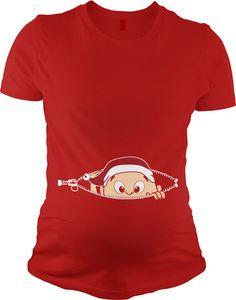 21efd9deb Elf peeking maternity t-shirt Christmas Shirts, Christmas Sweaters,  Christmas Baby, Christmas